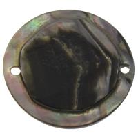 Черная ракушка коннектор, Плоская круглая форма, натуральный, 1/1 петля, 30x3mm, отверстие:Приблизительно 1mm, продается PC