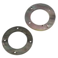 Черная ракушка коннектор, Кольцевая форма, натуральный, петля 2/2, 31x2mm, отверстие:Приблизительно 1mm, продается PC