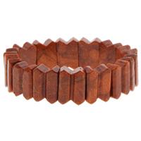Натуральный коралл браслет, натуральный, оранжевый, 13x17x7mm, Продан через Приблизительно 7 дюймовый Strand