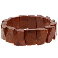 Натуральный коралл браслет, натуральный, оранжевый, 12x18x7mm, Продан через Приблизительно 7 дюймовый Strand
