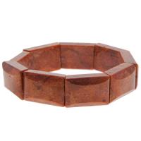 Натуральный коралл браслет, Прямоугольная форма, натуральный, оранжевый, 22x14x8mm, Продан через Приблизительно 7 дюймовый Strand