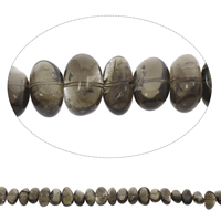 Natural Smoky Quartz Beads, Oval, Grade AAA, 15x9mm-19x8mm, Hole:Approx 1mm, Approx 40PCs/Strand, Sold Per Approx 15 Inch Strand