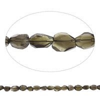 Natural Smoky Quartz Beads, faceted, Grade AAA, 12x15x10mm-17x18x13mm, Hole:Approx 2mm, Approx 22PCs/Strand, Sold Per Approx 15 Inch Strand