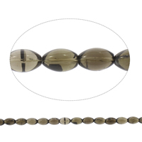 Natural Smoky Quartz Beads, Oval, Grade AAA, 12x18mm, Hole:Approx 2mm, Approx 22PCs/Strand, Sold Per Approx 15 Inch Strand
