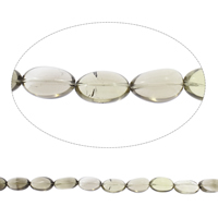 Natural Smoky Quartz Beads, Flat Oval, Grade AAA, 18x30mm-20x32mm, Hole:Approx 2mm, Approx 13PCs/Strand, Sold Per Approx 15 Inch Strand