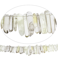 Natural Smoky Quartz Beads, Grade AAA, 4x20mm-11x42mm, Hole:Approx 2mm, Approx 60PCs/Strand, Sold Per Approx 15 Inch Strand