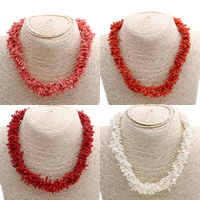 Coral Necklace brass spring ring clasp 10x2mm-15x5mm Sold Per Approx 16.5 Inch Strand