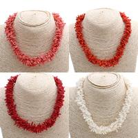 Коралловые ожерелья, Синтетический коралл, латунь Замочек-колечко, Много цветов для выбора, 10x2mm-15x5mm, Продан через Приблизительно 16.5 дюймовый Strand