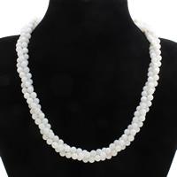 Коралловые ожерелья, Синтетический коралл, латунь Замочек-колечко, белый, 6mm, Продан через Приблизительно 19.5 дюймовый Strand