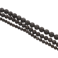 Natural Snowflake Obsidian Beads, Round, different size for choice, Hole:Approx 1mm, Length:Approx 15 Inch, Sold By Bag