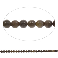Natural Grain Stone Beads, Round, 8mm, Hole:Approx 1mm, Length:Approx 15 Inch, 5Strands/Bag, Approx 50PCs/Strand, Sold By Bag