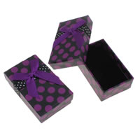 Cardboard Earring Box, with Velveteen, Rectangle, 51x80x30mm, Sold By PC