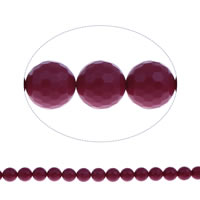 Clearance Acrylic Beads, Round, faceted & solid color, purple, 12mm, Hole:Approx 1mm, Approx 33PCs/Strand, Sold Per Approx 15.5 Inch Strand