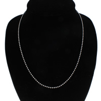 Iron Chain Necklace, ball chain, original color, lead & cadmium free, 2.5mm, Sold Per Approx 18.5 Inch Strand