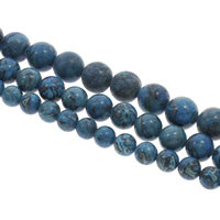 Natural Sodalite Beads, Round, different size for choice, Hole:Approx 1mm, Length:Approx 15 Inch, Sold By Bag