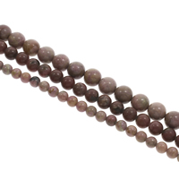 Natural Rhodonite Beads, Round, different size for choice, Hole:Approx 1mm, Length:Approx 15 Inch, Sold By Bag