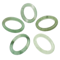 Natural Aventurine Pendants, Green Aventurine, Flat Oval, 26x36x5mm, Hole:Approx 16x26mm, 10PCs/Bag, Sold By Bag