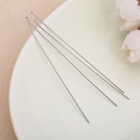 Stainless Steel Headpins, original color, 85.80x1.80mm, 200PCs/Lot, Sold By Lot