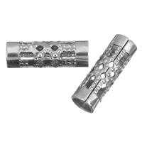 Roestvrijstaal Buis Kralen, Roestvrij staal, hol, oorspronkelijke kleur, 12x4mm, Gat:Ca 3mm, 200pC's/Bag, Verkocht door Bag