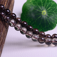 Natural Smoky Quartz Beads, Round, different size for choice, Hole:Approx 1-3mm, Length:Approx 15 Inch, Sold By Lot