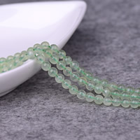 Natural Prehnite Beads, Round, different size for choice, Grade AA, Hole:Approx 0.5-1mm, Sold Per Approx 15 Inch Strand