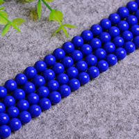 Azurite Beads, Round, natural, different size for choice, Hole:Approx 0.5-1.5mm, Length:Approx 15 Inch, Sold By Lot