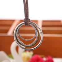 Коровьей ожерелье, цинковый сплав, с коровьей шнур, Другое покрытие, может быть использован как ожерелье или свитера & регулируемый, не содержит никель, свинец, длина:19.6-31.5 дюймовый, 10пряди/Лот, продается Лот