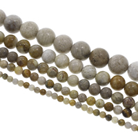 Chrysanthemum Stone Beads, Round, natural, different size for choice, Hole:Approx 1mm, Sold Per Approx 15 Inch Strand