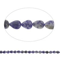 Natural Blue Spot Stone Beads, Teardrop, 8x10x5mm, Hole:Approx 1mm, Approx 40PCs/Strand, Sold Per Approx 15.5 Inch Strand