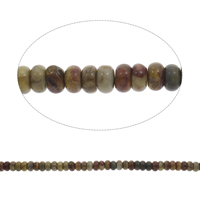 Natural Indian Agate Beads, Rondelle, 9x5mm, Hole:Approx 1mm, Approx 80PCs/Strand, Sold Per Approx 15 Inch Strand
