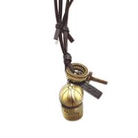 Коровьей ожерелье, цинковый сплав, с коровьей шнур, шапка, Другое покрытие, может быть использован как ожерелье или свитера & регулируемый, не содержит никель, свинец, длина:19.6-31.5 дюймовый, 10пряди/Лот, продается Лот