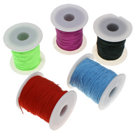 Nylon Cord, with plastic spool, more colors for choice, 1mm, Approx 80Yards/Spool, Sold By Spool