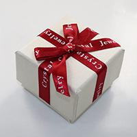 Kartonowe pudełko na pierścienie, Tektura, ze Gąbka & Satynowa wstążka, Kwadrat, z listu wzór & z motywem kokardki, 56x56x41mm, 24komputery/wiele, sprzedane przez wiele