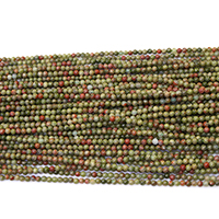 Natural Unakite Beads, Round, different size for choice, Hole:Approx 0.5mm, Length:Approx 17 Inch, Sold By Lot