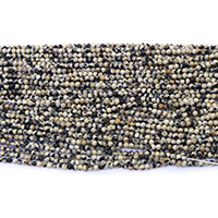 Natural Dalmatian Beads, Round, different size for choice, Hole:Approx 0.5mm, Length:Approx 16.5 Inch, Sold By Lot
