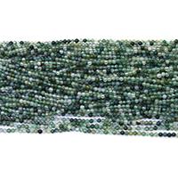 Luonnollinen Moss akaatti helmet, Pyöreä, erikokoisia valinnalle, Reikä:N. 0.5mm, Pituus:N. 16 tuuma, Myymät erä