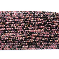 Natural Rhodonite Beads, Round, different size for choice, Hole:Approx 0.5mm, Length:Approx 16 Inch, Sold By Lot
