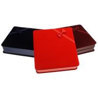 Kartonowe pudełko na naszyjnik, Tektura, ze Welwet, Prostokąt, dostępnych więcej kolorów, 165x45x175mm, sprzedane przez PC