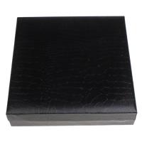 Kartonowe pudełko na naszyjnik, Tektura, ze PU & Welwet, Prostokąt, 185x45x193mm, sprzedane przez PC