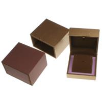 Kartonowe pudełko na naszyjnik, Tektura, ze PU & Welwet, Kwadrat, dostępnych więcej kolorów, 100x55x100mm, sprzedane przez PC