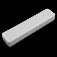 Kartonowe pudełko na naszyjnik, Tektura, ze Welwet, Prostokąt, biały, 245x35x55mm, sprzedane przez PC