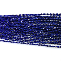 Natural Lapis Lazuli Beads, Round, different size for choice & faceted, Grade A, Length:Approx 16 Inch, Sold By Lot