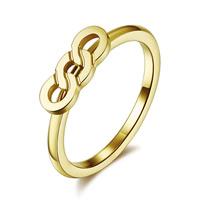 Пальцевидное Кольцо Титановой Стали, титан, плакирован золотом, размер:8, 10ПК/Лот, продается Лот