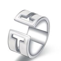 титан Манжеты палец кольцо, открыть & эмаль, оригинальный цвет, размер:6, 10ПК/Лот, продается Лот