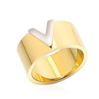 Пальцевидное Кольцо Титановой Стали, титан, Другое покрытие, 10mm, размер:6, 10ПК/Лот, продается Лот