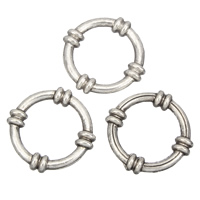 Zinc Alloy Linking Ring Donut antique silver color plated lead   cadmium free 21x4mm Hole:Approx 13mm 100G/Bag