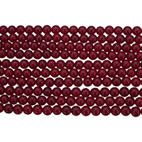Natural Marble Beads Round red Hole:Approx 0.8-1.4mm Length:Approx 15.5 Inch