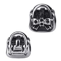 Stainless Steel Helmet asetus, Ruostumaton teräs, Käsilaukku, ilman peikko & mustata, 11x12x9mm, Reikä:N. 4.5mm, Sisäläpimitta:N. 1.5mm, 5PC/erä, Myymät erä