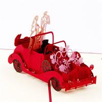 бумага 3D открытка, Пара, 3D-эффект, красный, 200x130mm, 10ПК/Лот, продается Лот