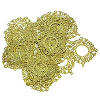 Brass Jewelry Pendants, gold color plated, nickel, lead & cadmium free, 31.50x34x0.20mm, Hole:Approx 1mm, 100PCs/Lot, Sold By Lot